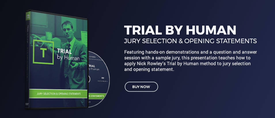 Trial By Human Jury Selection & Opening Statements