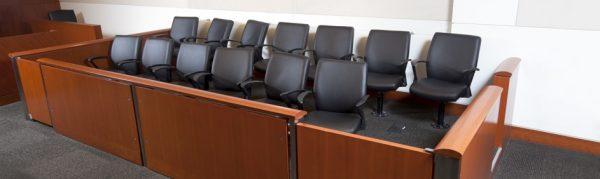 Modern Courtroom Jury Box